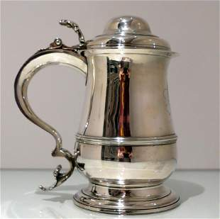 18th Century Antique George III Sterling Silver Tankard