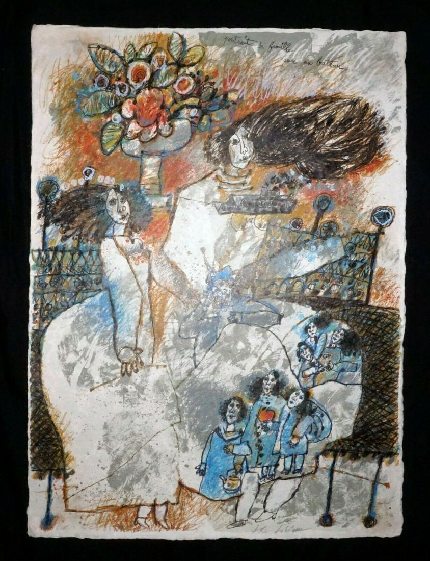 78 French Print Portrait de Famille Theo Tobiasse