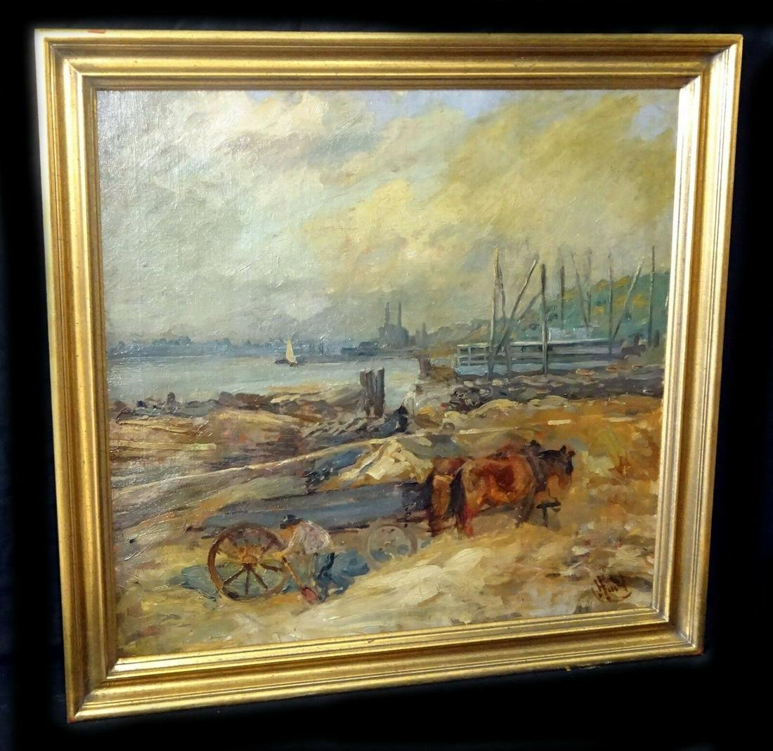 1910s Oil Cart by River George Overbury