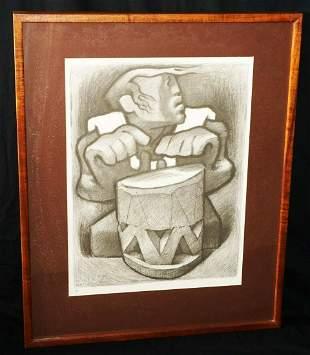70 Koa Framed Print Hawaii Drummer Jean Charlot