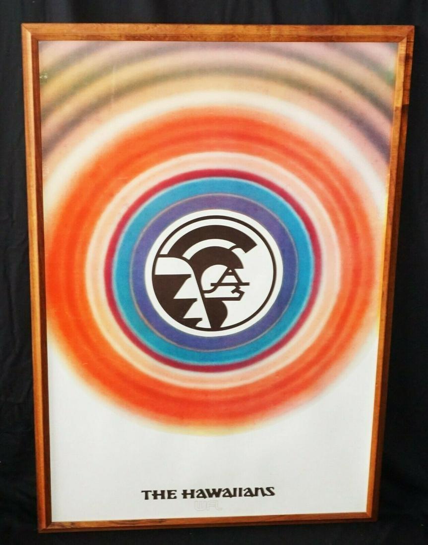 70s Koa Poster Hawaiians World Football League