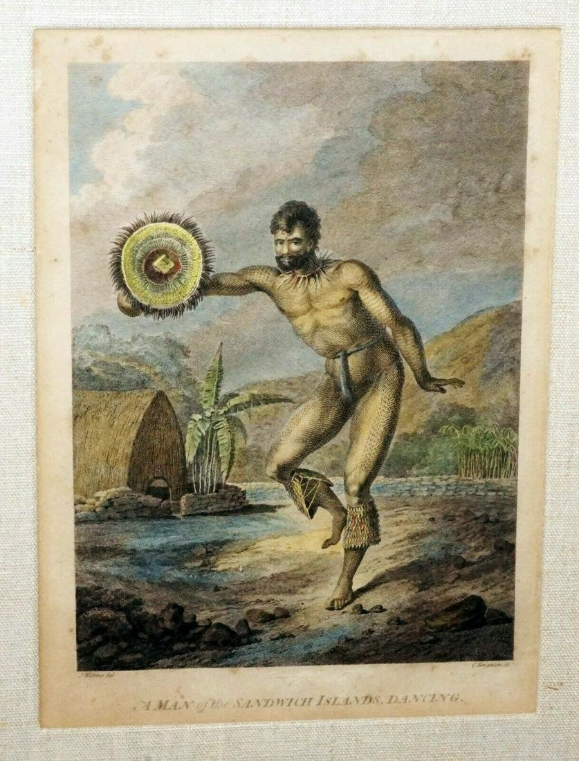 18C Koa Framed Print Man Sandwich Islands Dancing