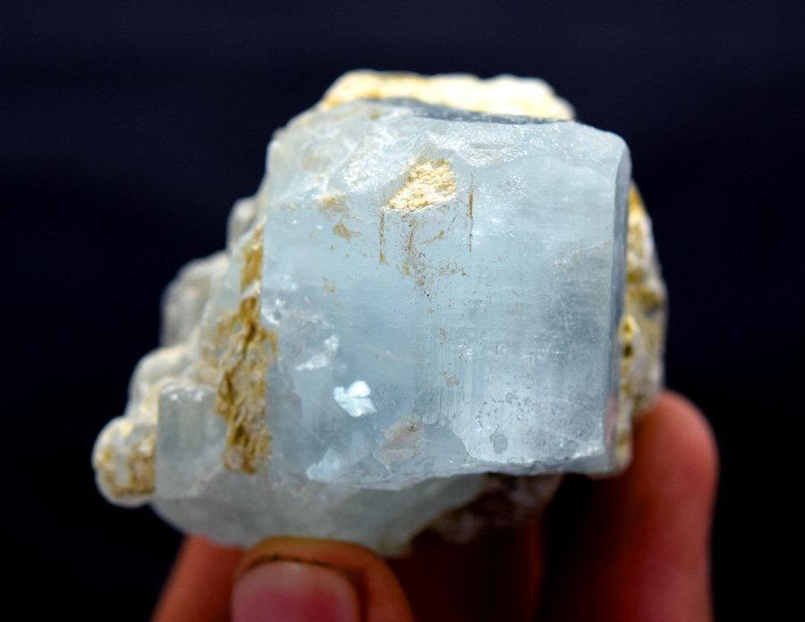 Aquamarine Specimen , Aquamarine Crystals with Mucovite