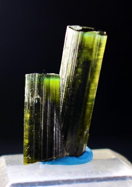 Natural & unheated~ Grenn Cap Tourmaline Crystal