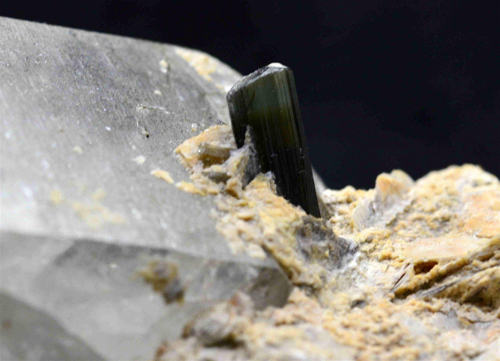 138 Grams Green Cap Stiknala Tourmaline Specimen With