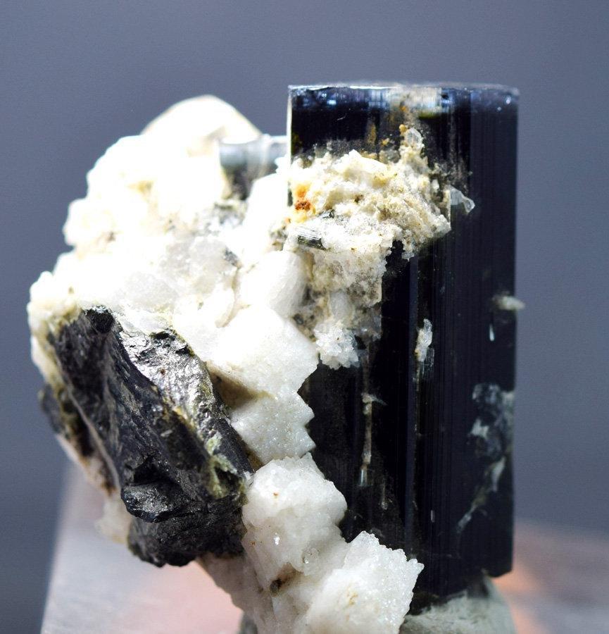 Tourmaline Specimen , Blue Cap Tourmaline Crystal on