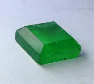 Natural unheated Green Fluorite Faceted Cut Stone