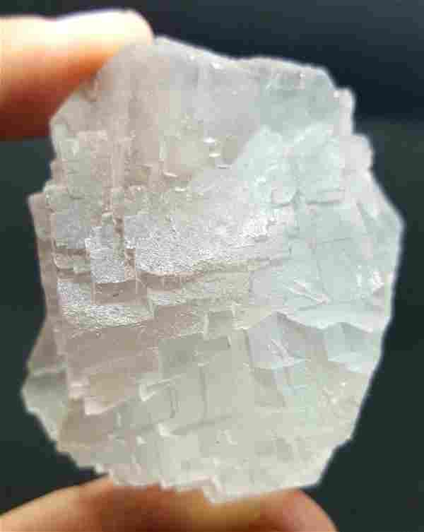 100 Grams Cubic Fluorite Mineral - 54X47X29 mm