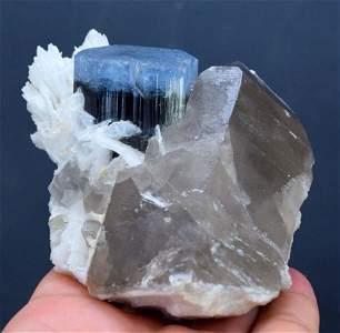 Tourmaline Specimen , Terminated Blue Cap Tourmaline