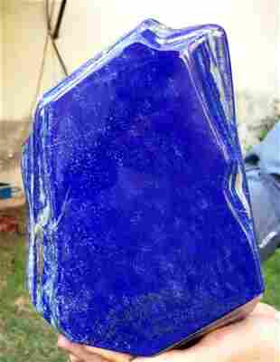 5124 Gram Top Grade Royal Blue Color Natural Lapis