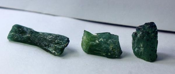 Natural & unheated~ Bluish Green Tourmaline Crystal Lot