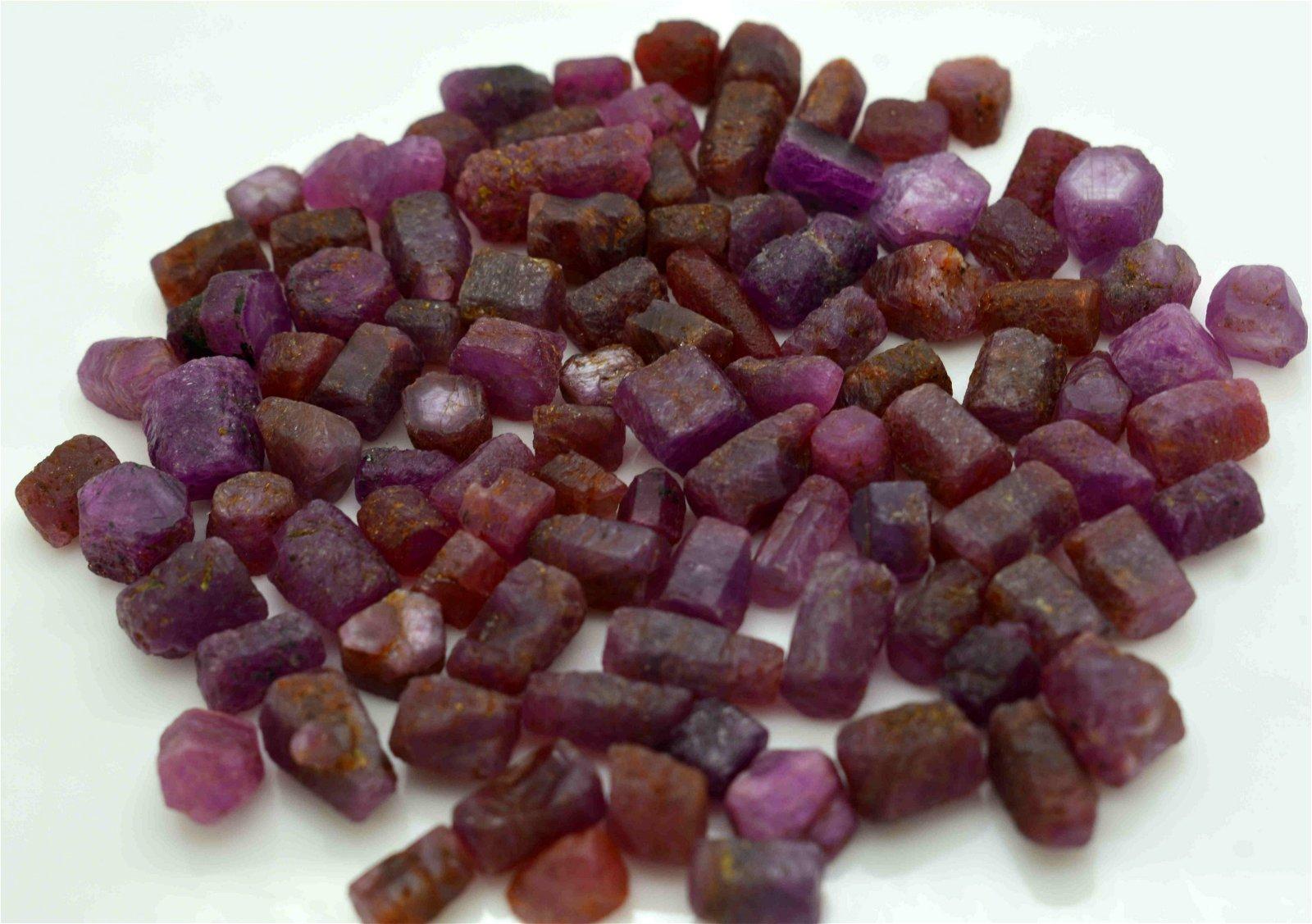 100 Grams Beautiful Rough Ruby Crystals