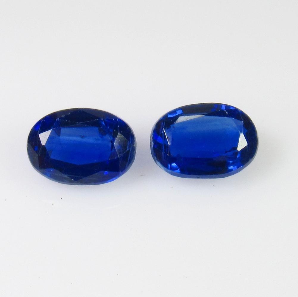 1.91 Ctw Natural Blue Kyanite Oval Pair