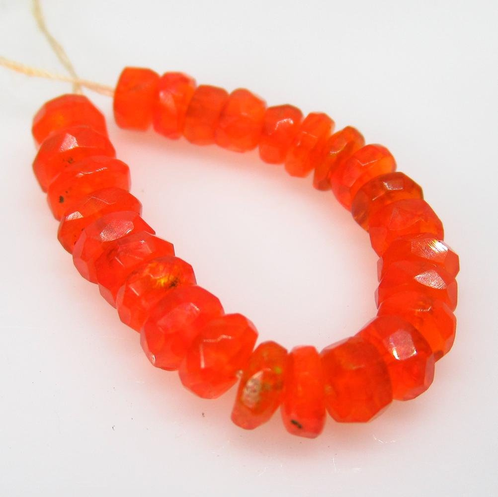 4.59 Ctw Natural 26 Drilled Round Orange Faceted Fire
