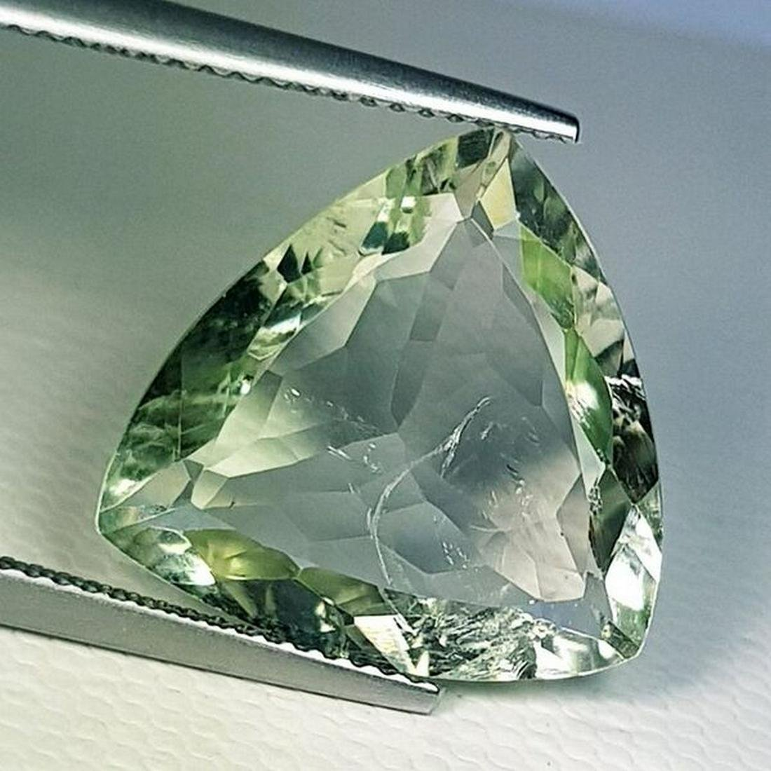 Natural Green Amethyst Triangle Cut 8.96 ct