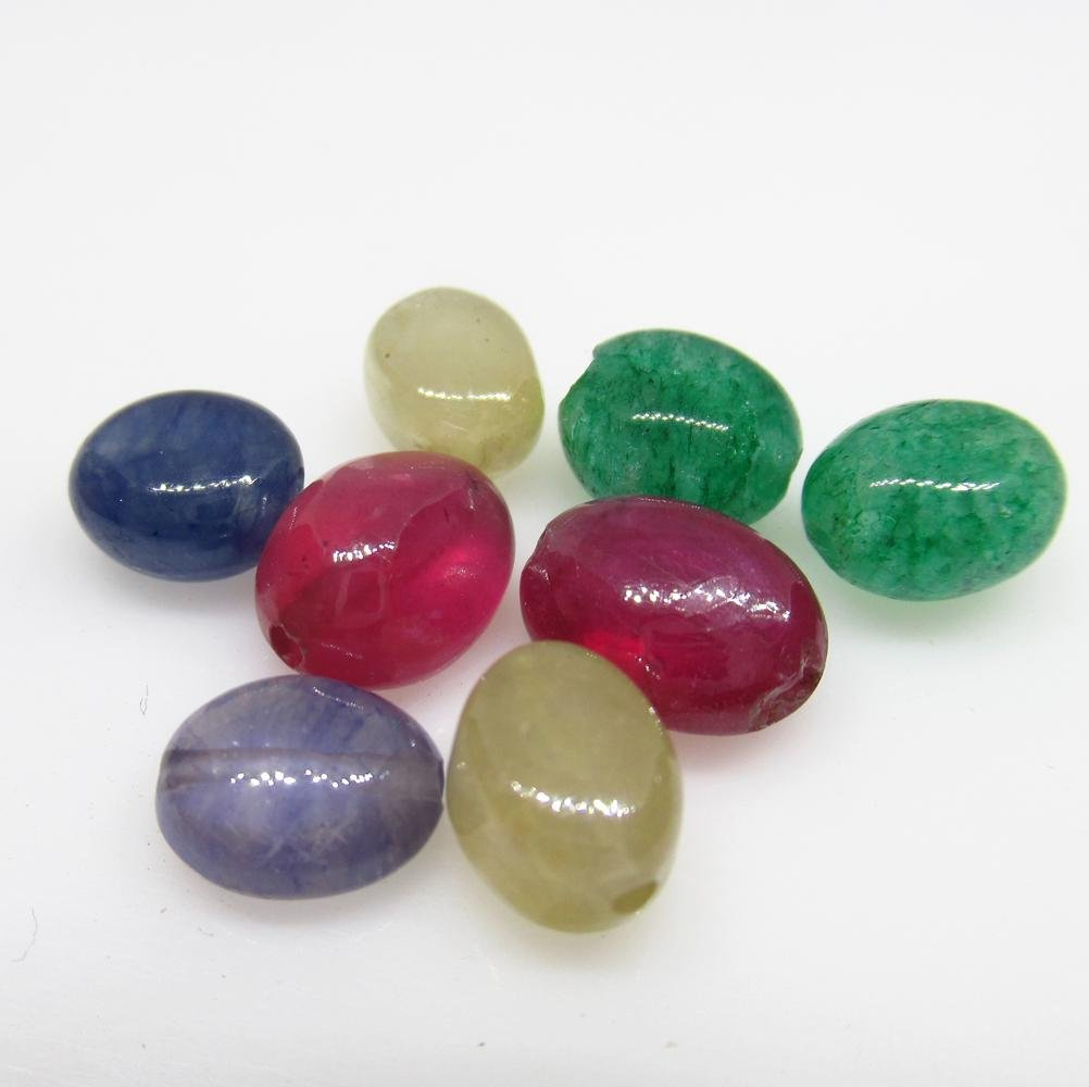 20.62 Ct Natural 8 Ruby Emerald Sapphire Beads