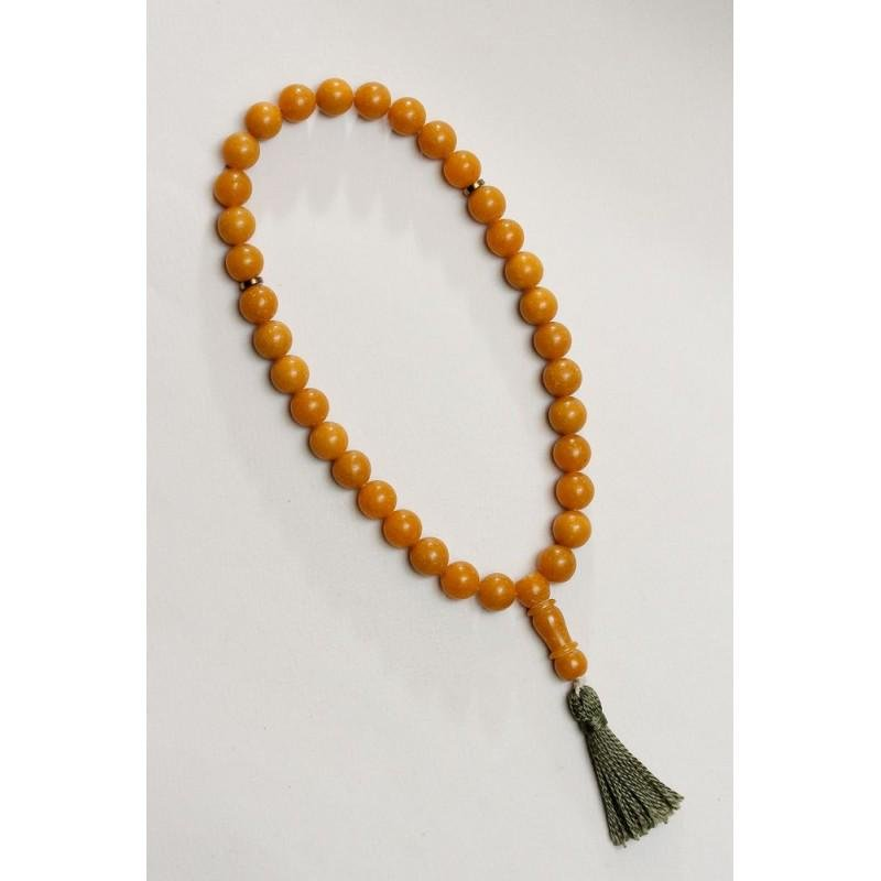 51 g. natural pressed Baltic amber rosary / mala / imam