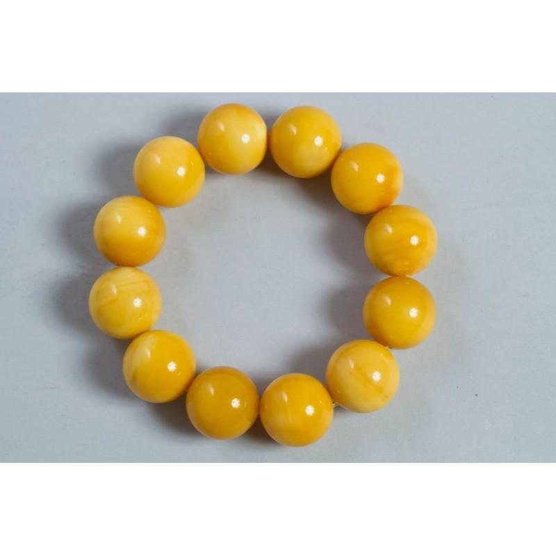 42 g. Vintage 100% natural melted Baltic amber bracelet