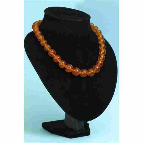 57 g. Vintage 100% natural Baltic amber necklace cognac