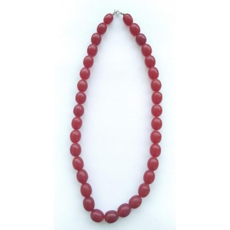 68 g. Vintage 100% natural Baltic amber necklace olives