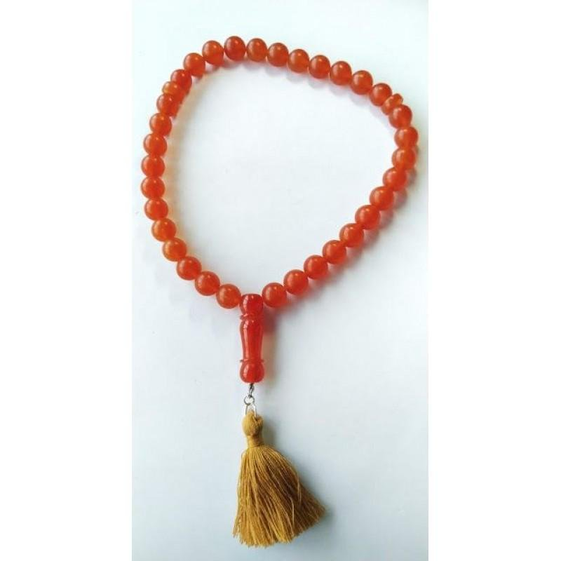 41 g. Natural Baltic amber rosary imam red amber color