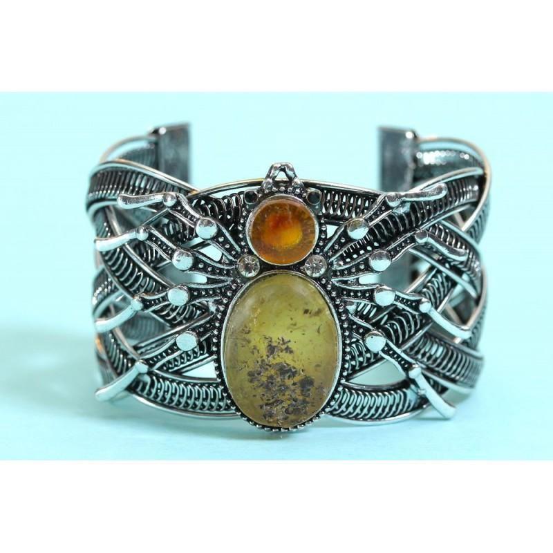 57 g. spider bracelet of natural Baltic amber