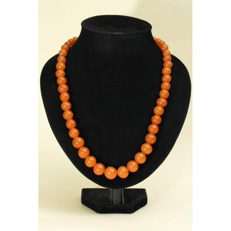 57 gr. Baltic amber necklace - egg yolk, butterscotch