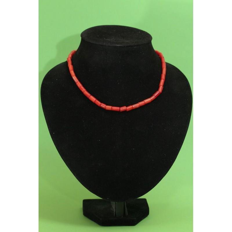 24 gram Vintage natural red coral necklace antique