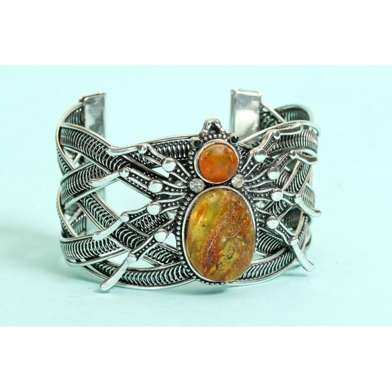 59 g. natural Baltic amber bracelet with Spider on it