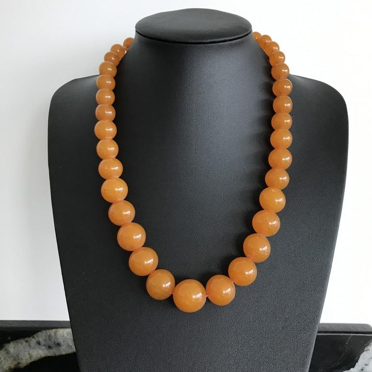Alluring Amber Necklace made from Round Amber beads