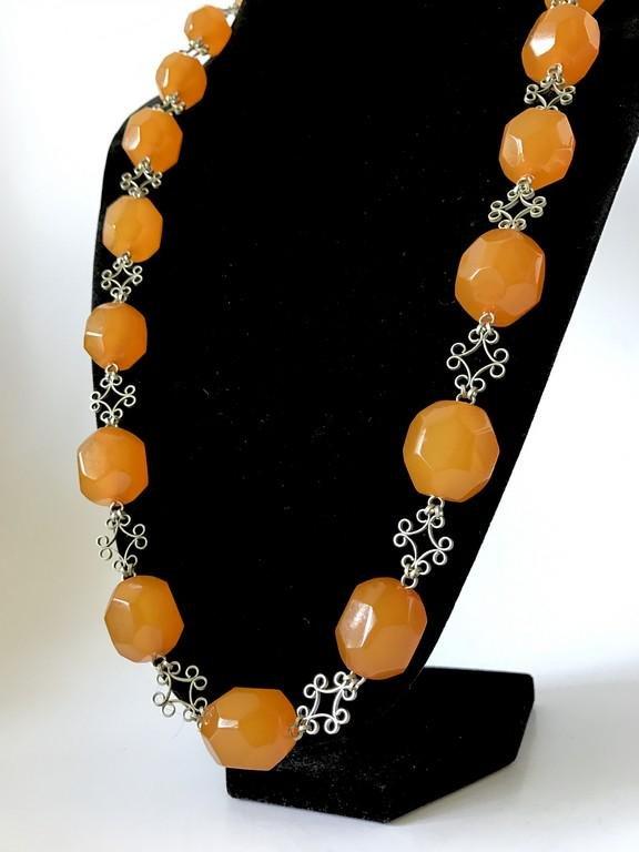 Vintage Baltic amber necklace big beads ø19-22