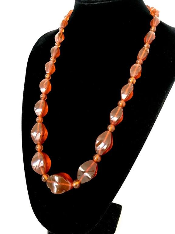 Astonishing Vintage Amber Necklace made from Hand