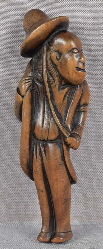 18c netsuke simple minded DUTCHMAN