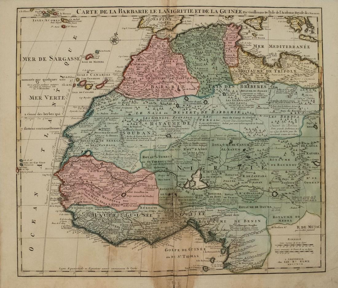 1792 Elwe Map of Northwest Africa -- Carte de la