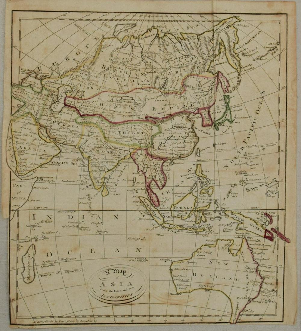 1750s Map of Asia and Australia -- A Map of Asia from