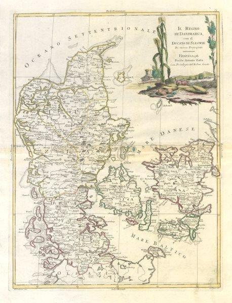 """""""Il Regno di Danimarca, con Sleswik"""". Denmark &"""