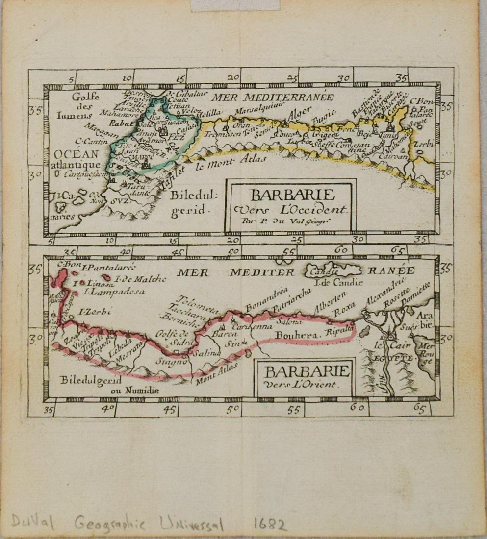 1682 duVal Maps of Northern Africa -- Barbarie vers