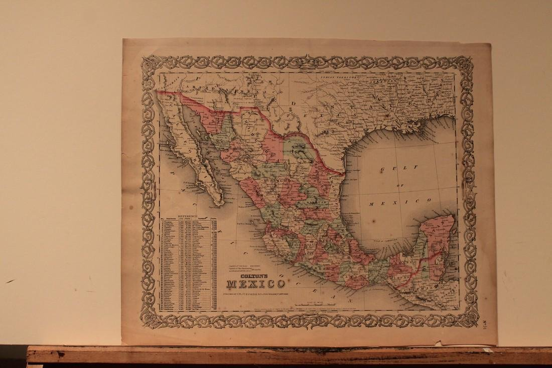 1854 Map of Mexico