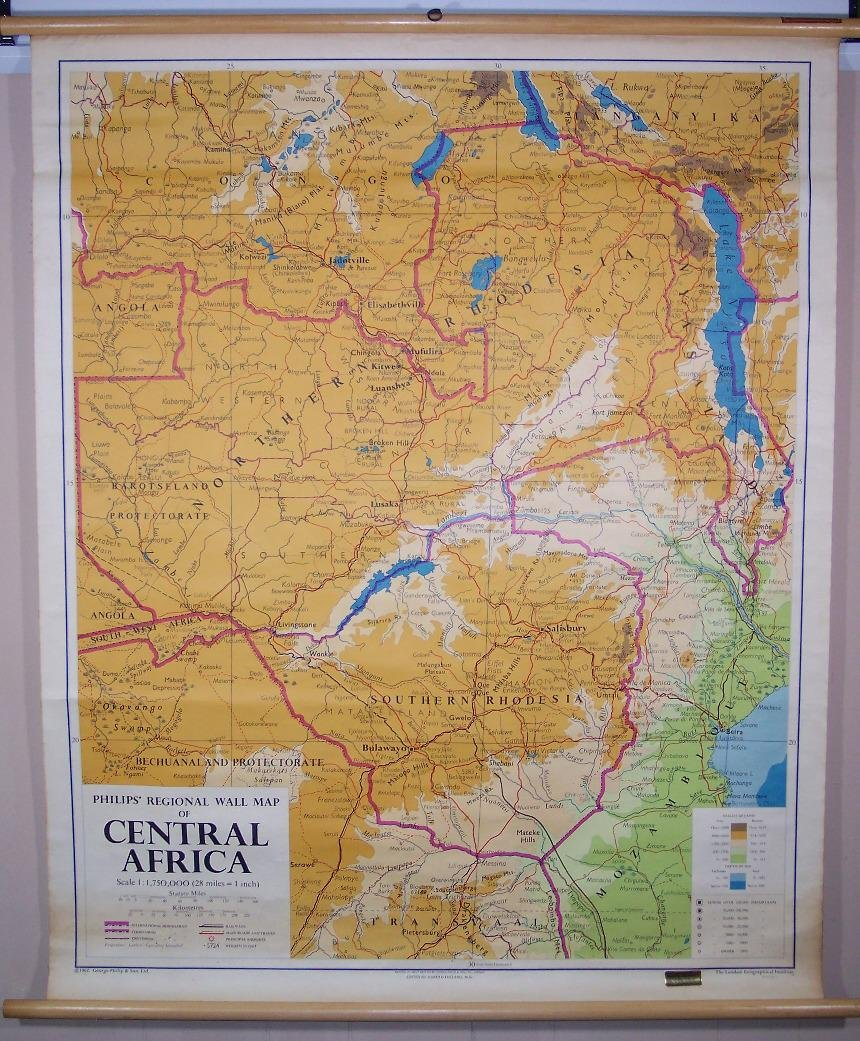 Philipss'Regional Wall Map of Central Africa