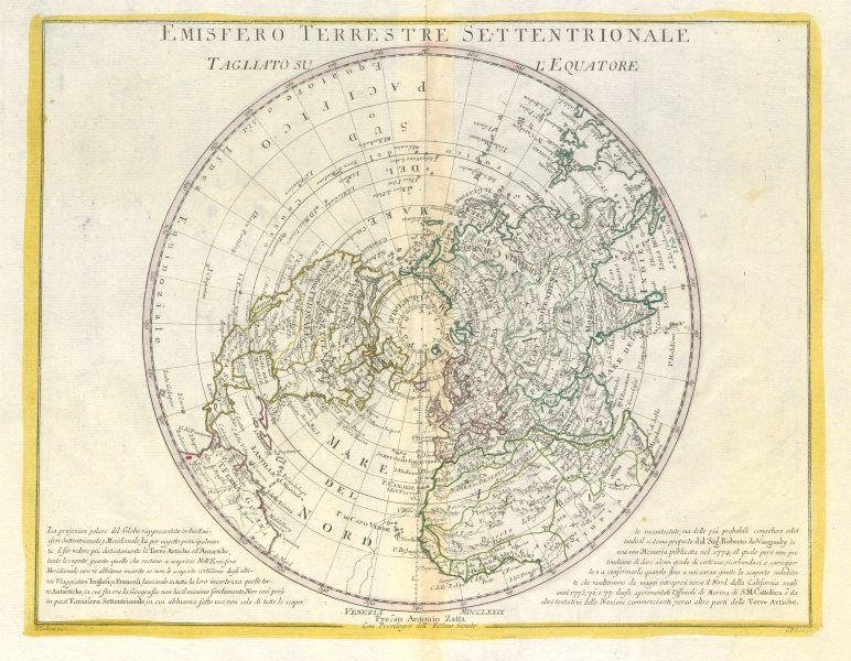 """Emisfero Terrestre Settentrionale"". Northern"