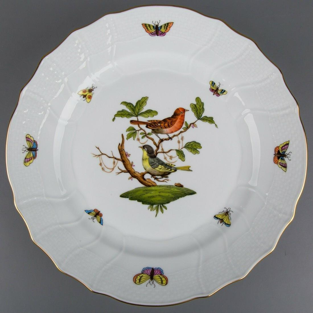 Herend Rothschild Bird Rocaille Dinner Plate #1524/RO