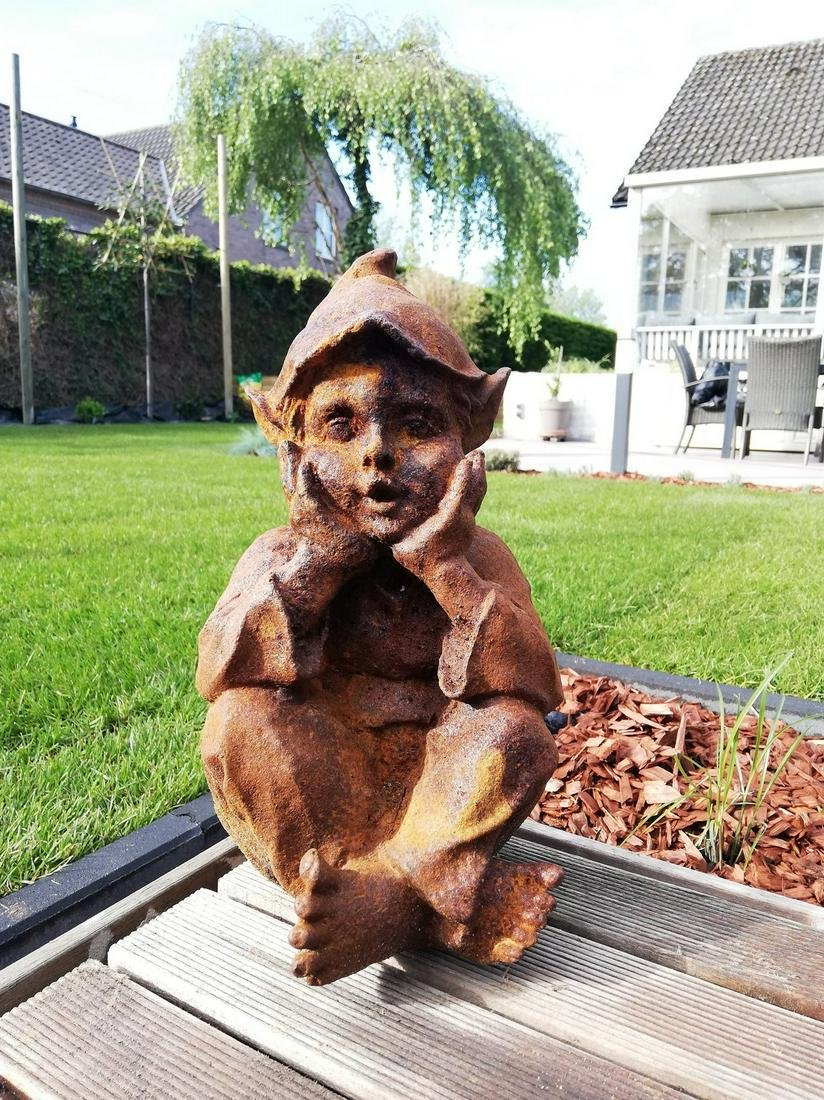 Antique garden gnome