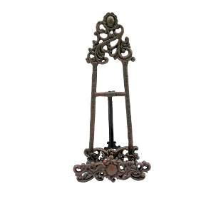 Book stand in artnouveau style iron display