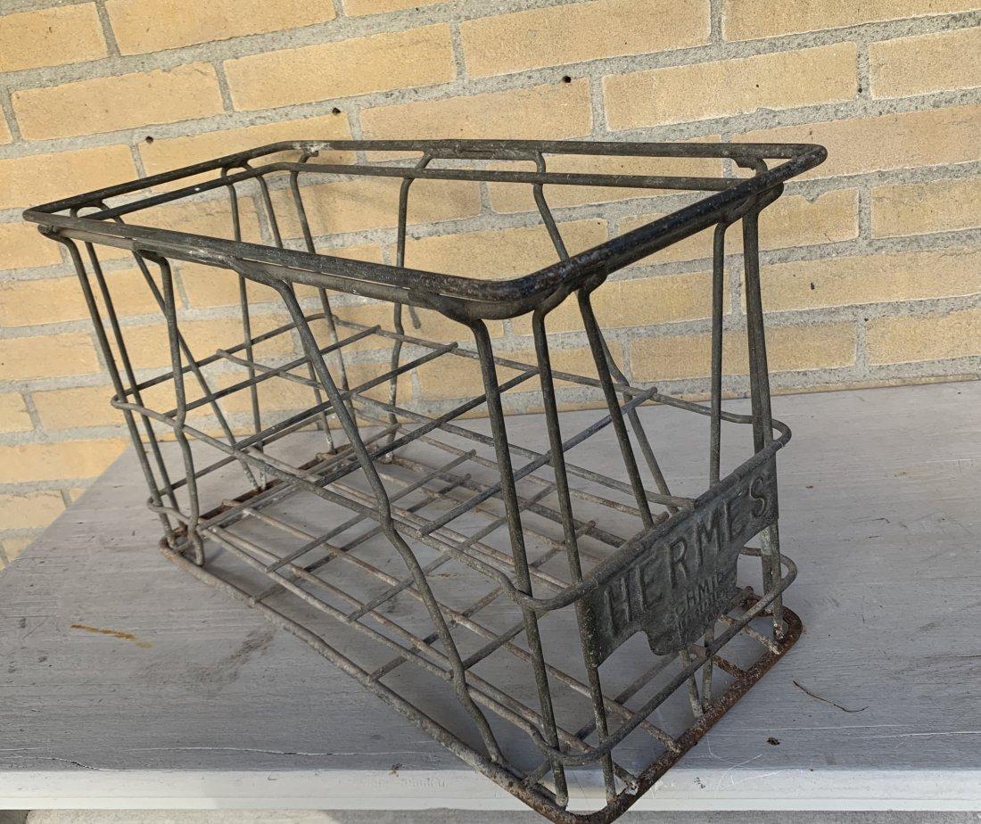 Vintage botlle rack
