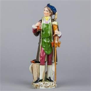 Herend Shoe Vendor Man Figurine Rare Masterpiece