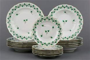 Herend Persil Pattern Plate Set for Six People, 18