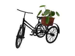 Scale model of a Tricycle planter home decor