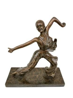 Bronze sculpture of a modern dancer Bronze art
