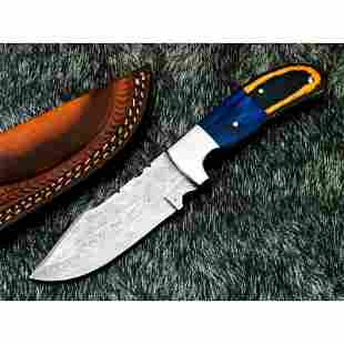 Damascus steel knife, exclusive pattern knife, hunting