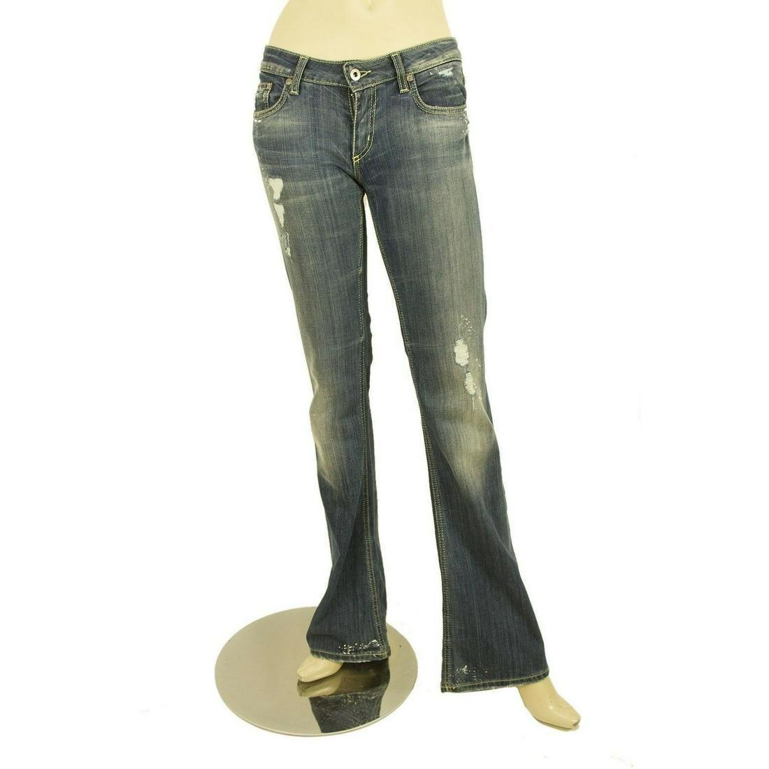 Dondup Blue Kinshasa Denim Jeans Distressed Trousers